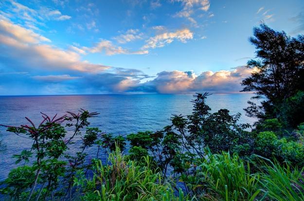 Sunrise - the Big Iseast coast near Hilo.